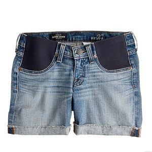 Size 24 J. Crew maternity shorts